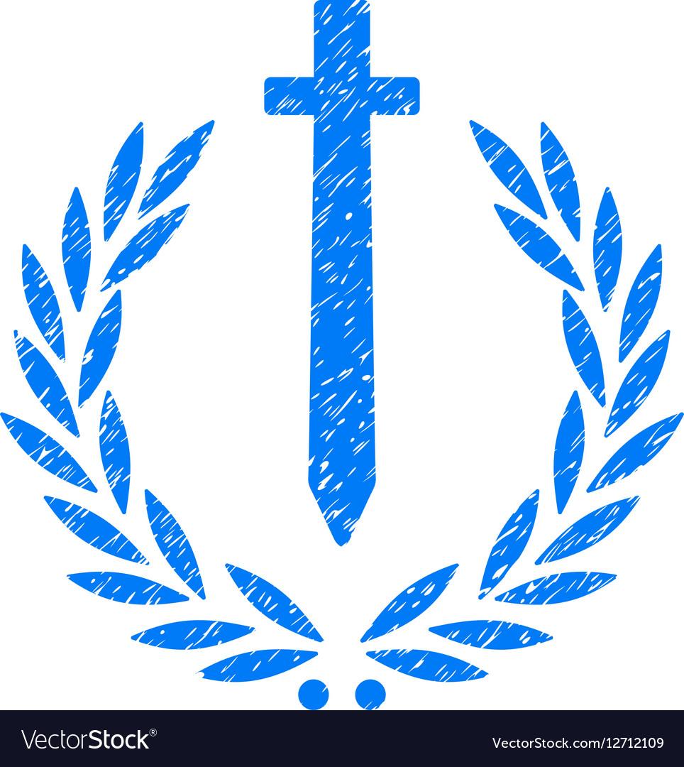 Sword Honor Embleme Grainy Texture Icon vector image