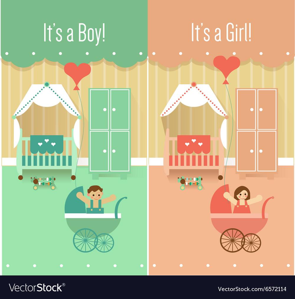 Baby Boy Girl Shower Invitation Cards Designs