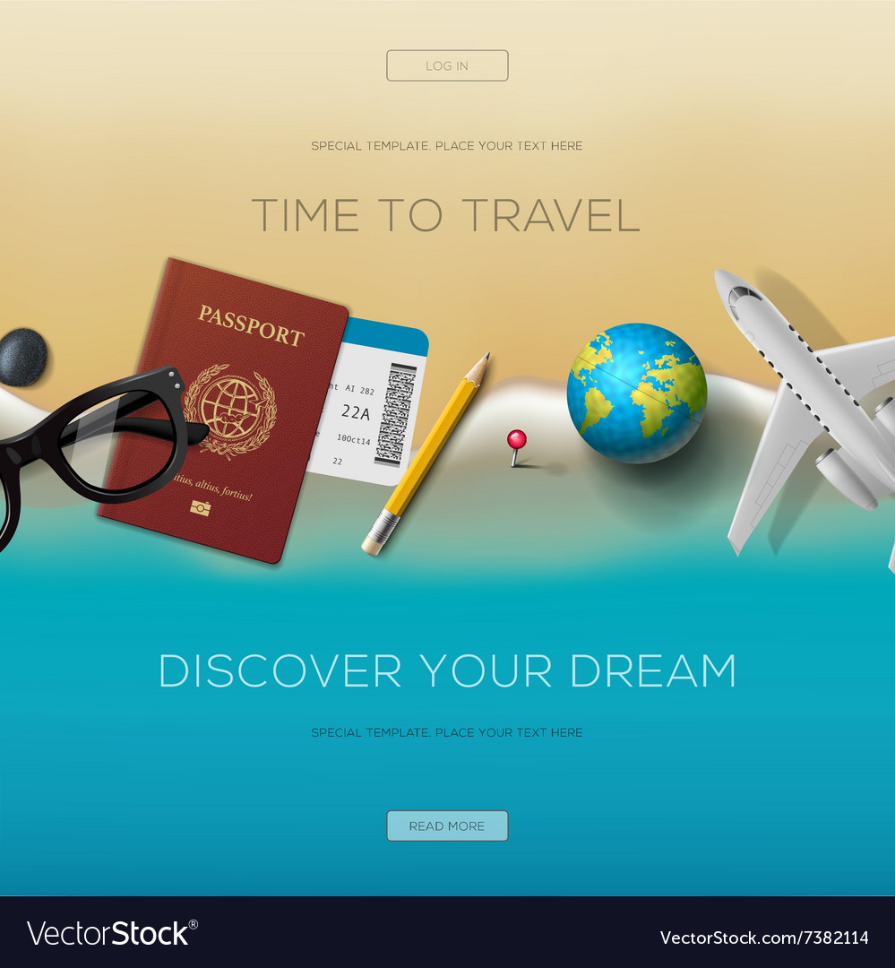 Colourful travel banner set for your business vector image