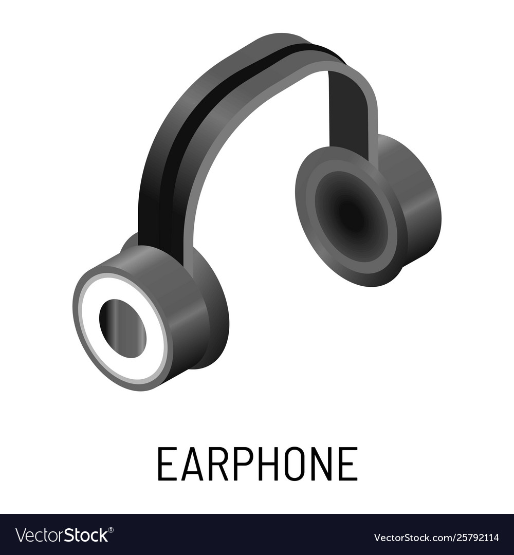 Earphone music listening device isolated object