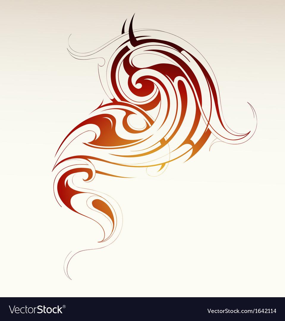 Tribal smoke vector image