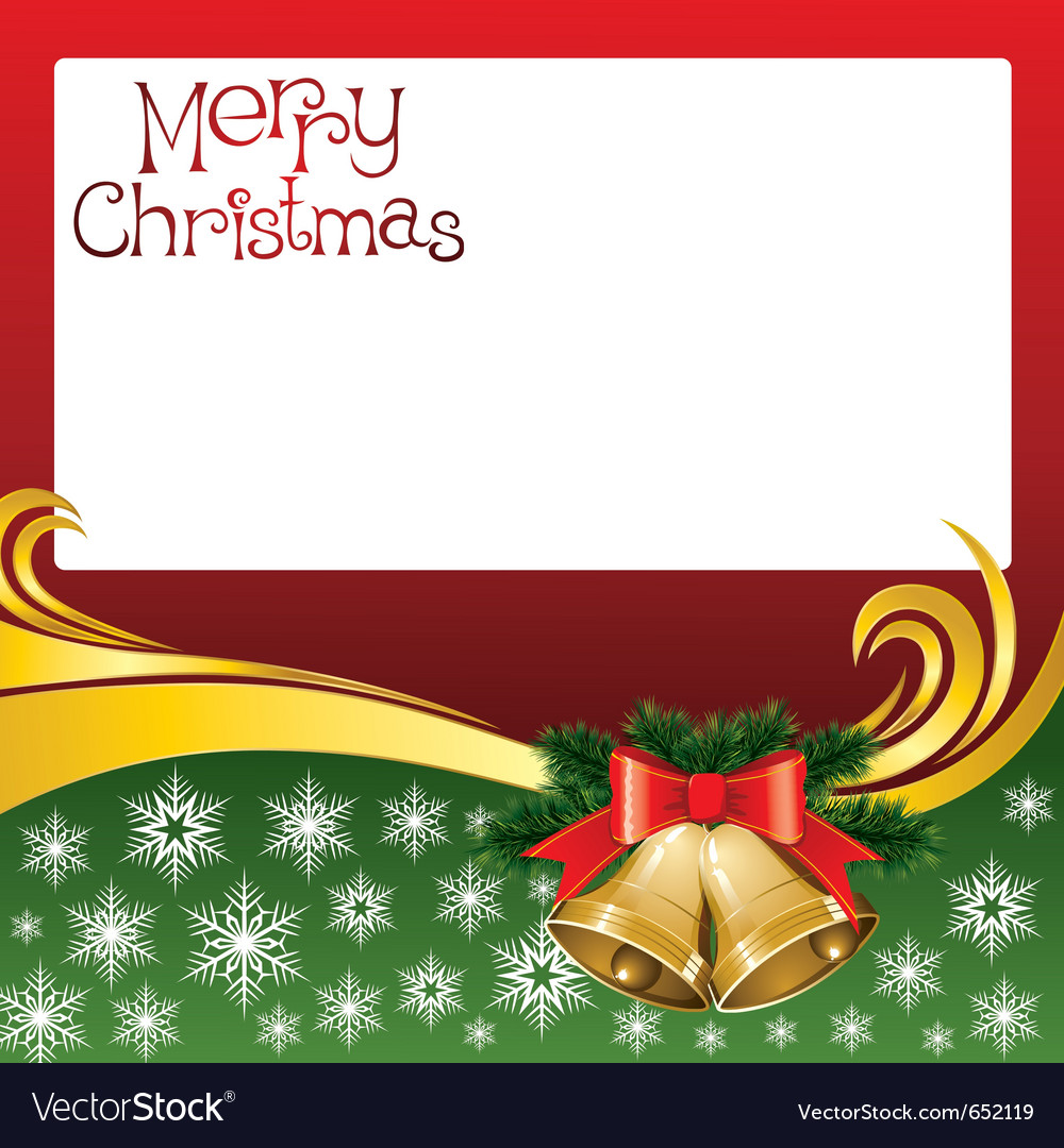2012 christmas card with jingle bells vector image