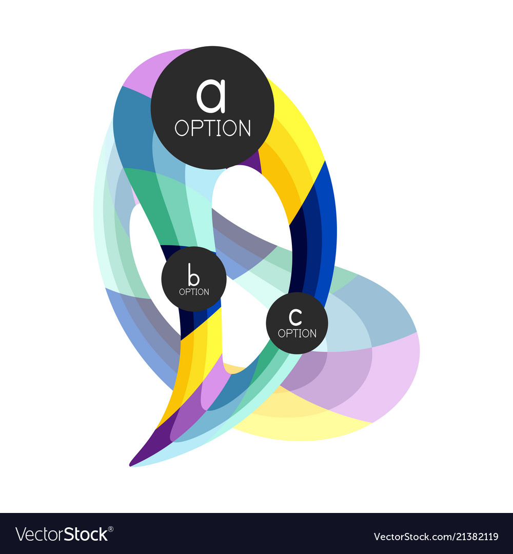 Abstract colorful geometric option infographics