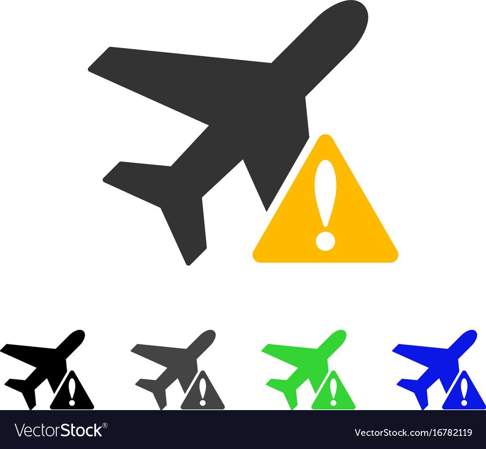 Aircraft warning flat icon