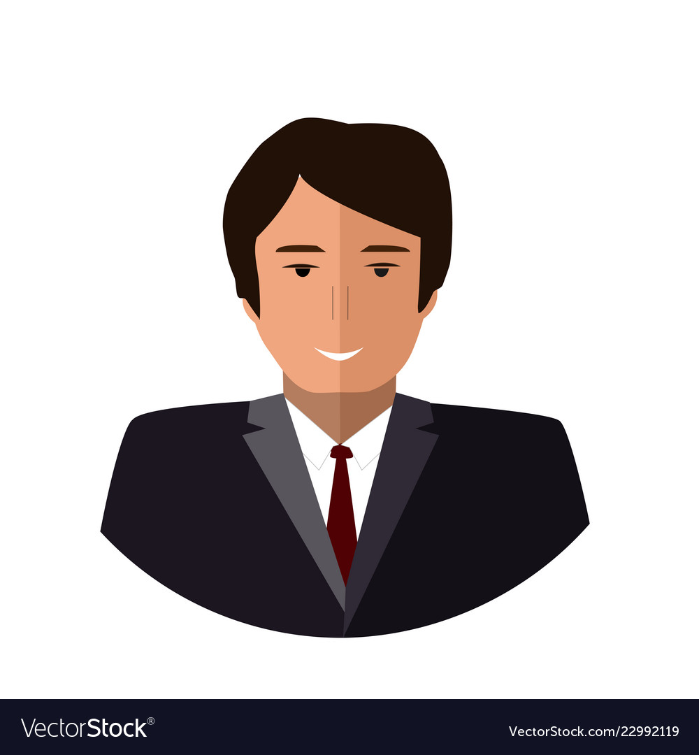 Boss icon flat colorful