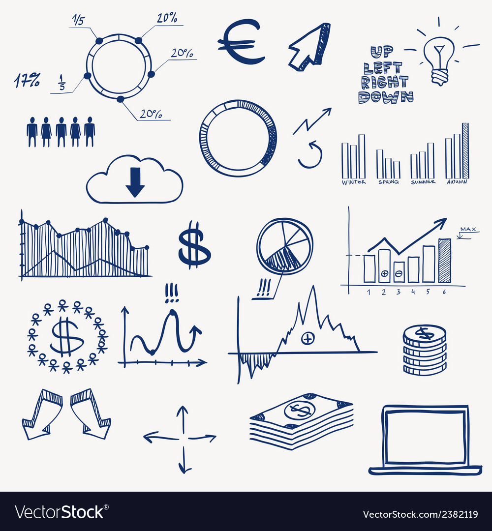 Business finance management infographics social vector image