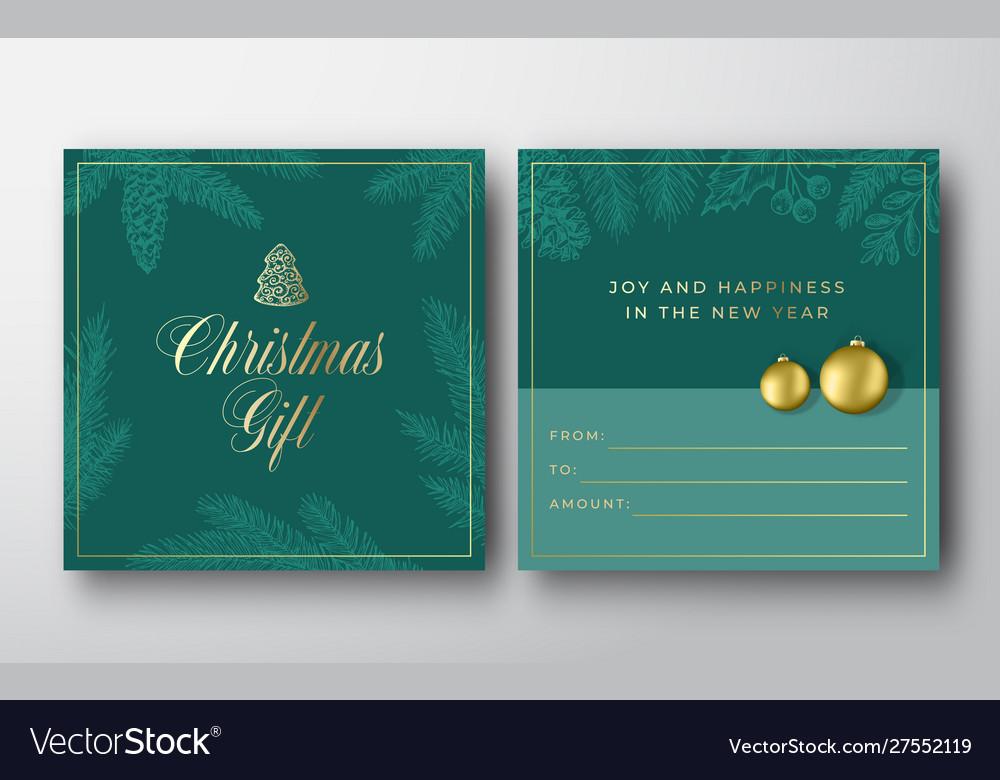Christmas abstract greeting gift card