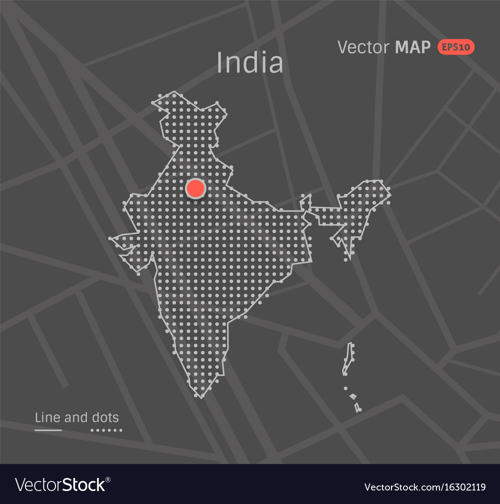 Dotted india map Royalty Free Vector Image - VectorStock