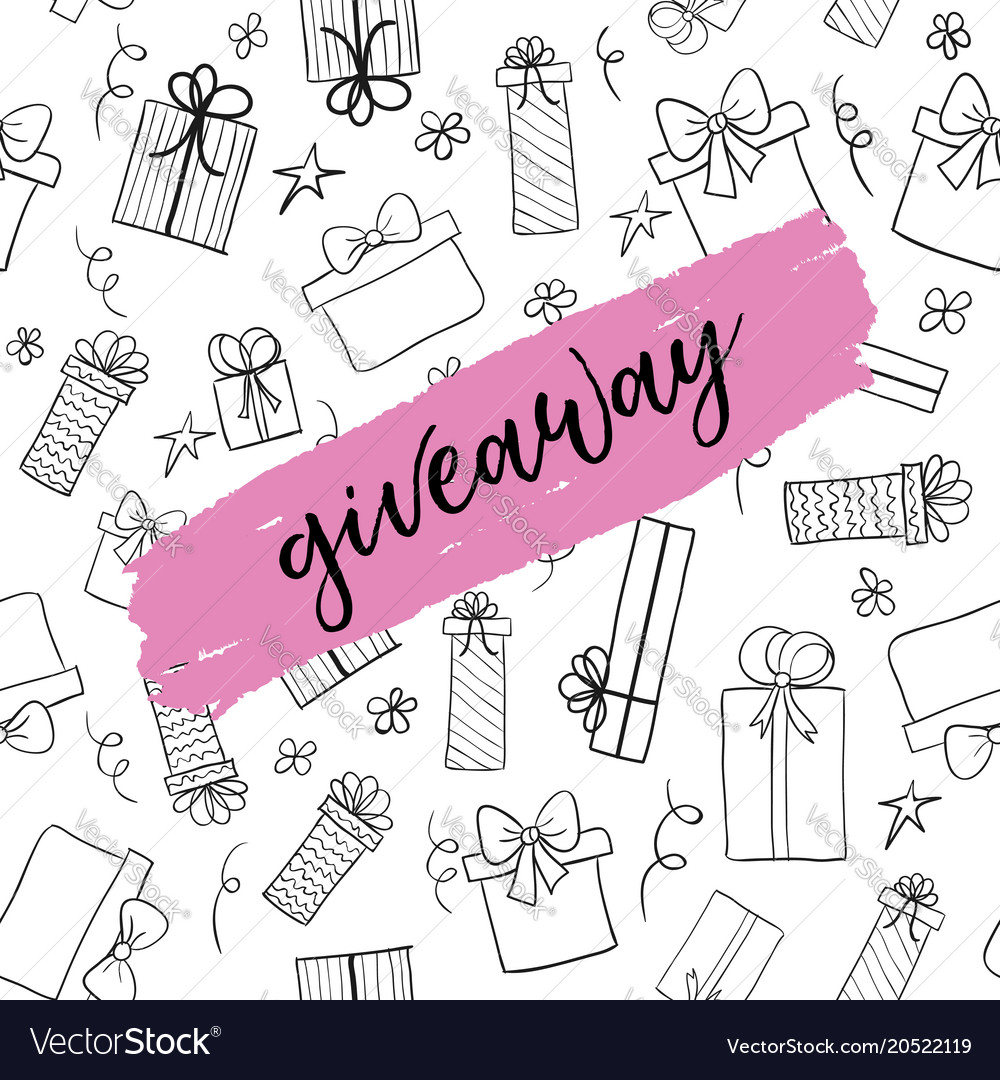 giveaway card template for social media royalty free vector