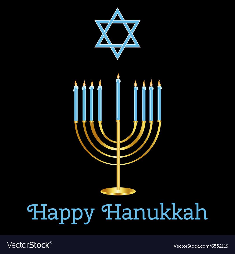 Jewish Holiday Happy Hanukkah card design