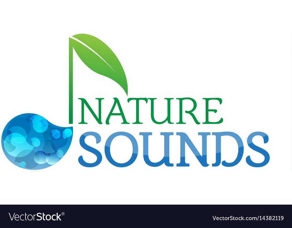 Music nature sounds logo logotype