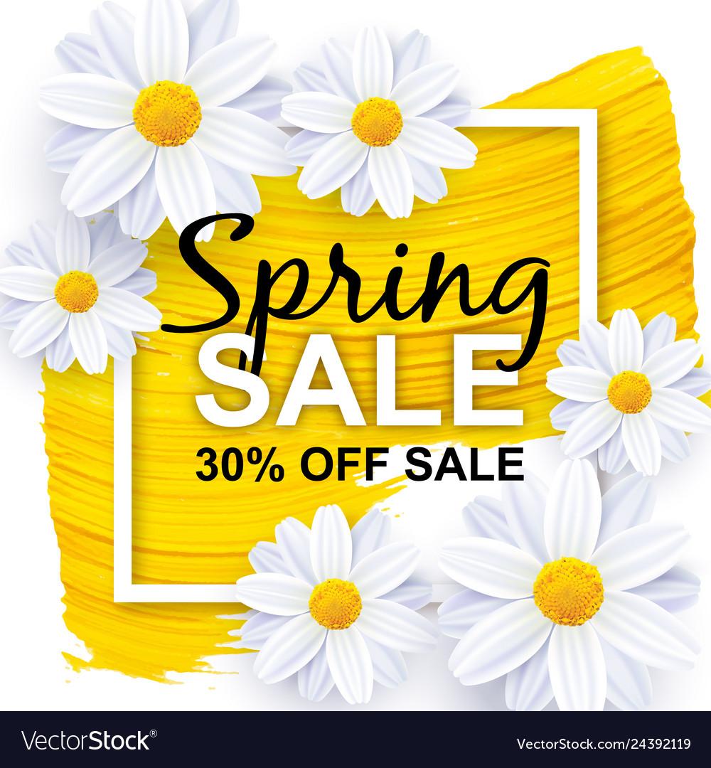 Spring sale banner design template