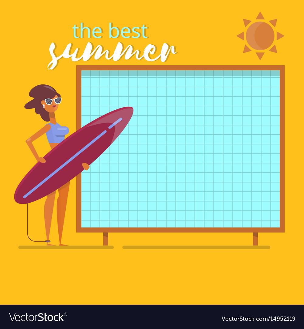 Summer holidays beach background postersummertime