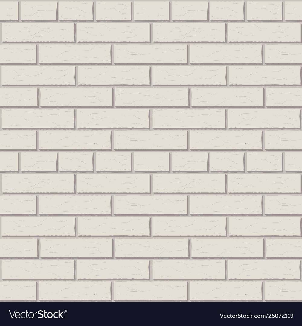 White brick wall pattern interior graphic