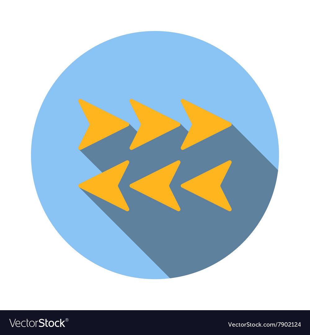 Arrows to left and right icon flat style