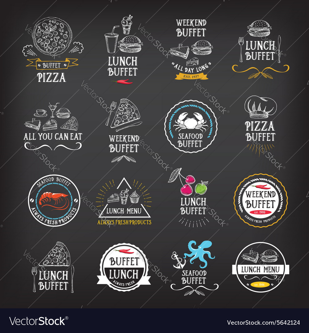 Buffet menu restaurant design All you can eat