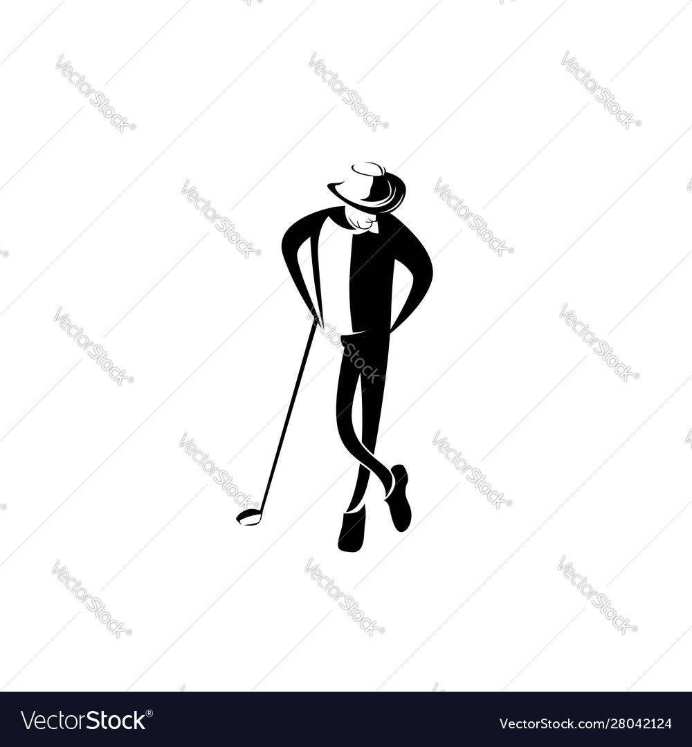 Man hat golfer