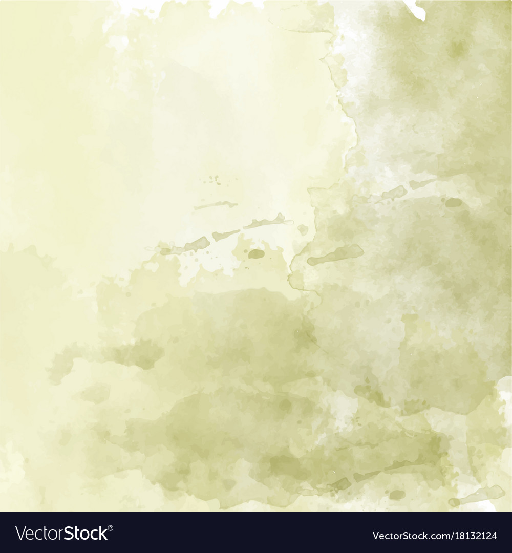 olive hand drawn watercolor background royalty free vector