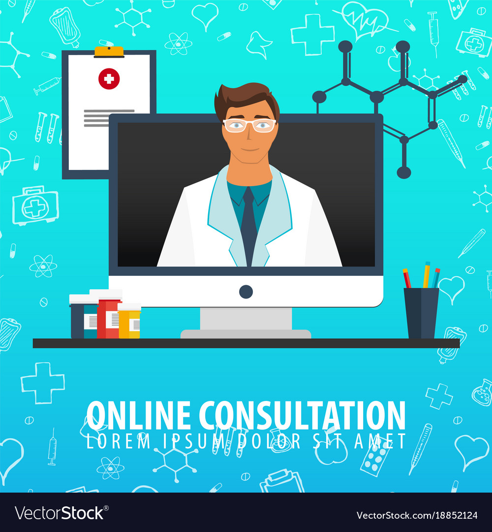 Online consultation medical background health