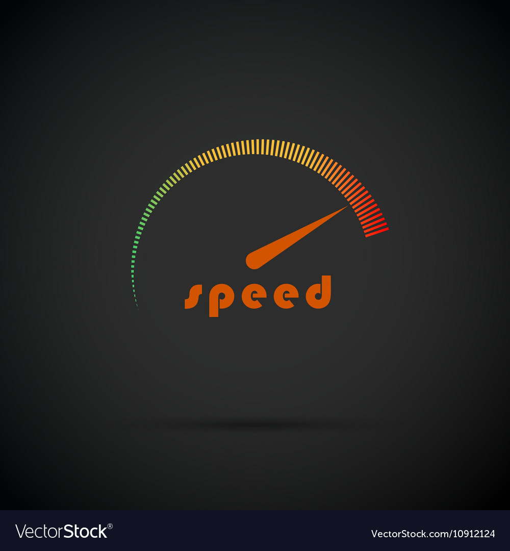 Speedometer icon Logo company Internet speed
