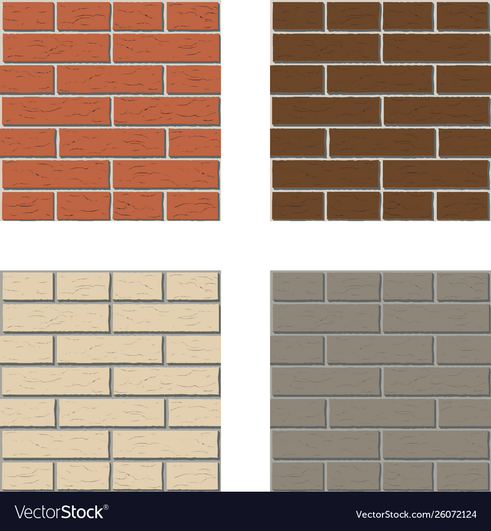 White red brown gray brick wall pattern