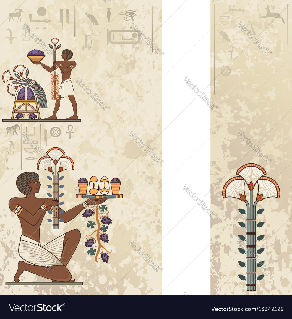 Ancient background vector image