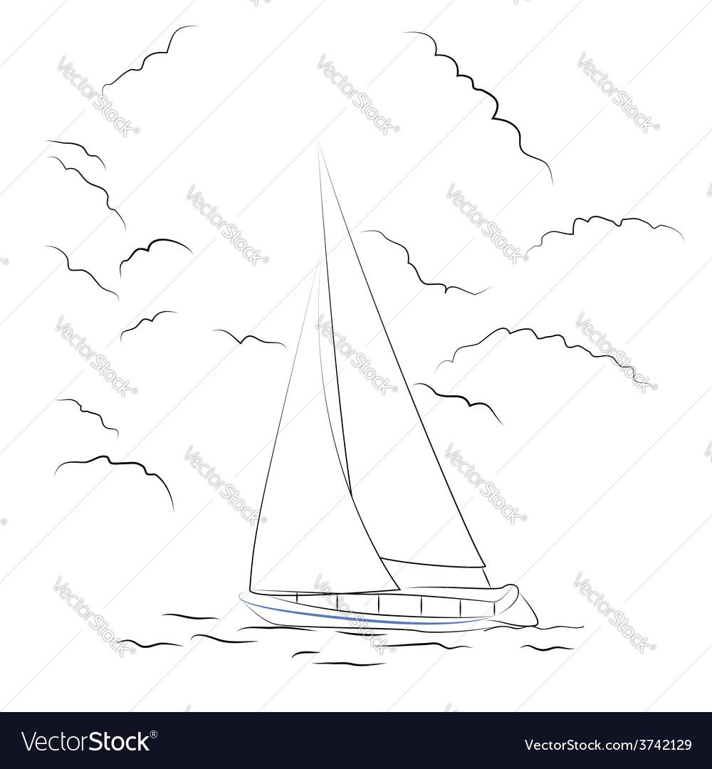 Boat sketch vector image