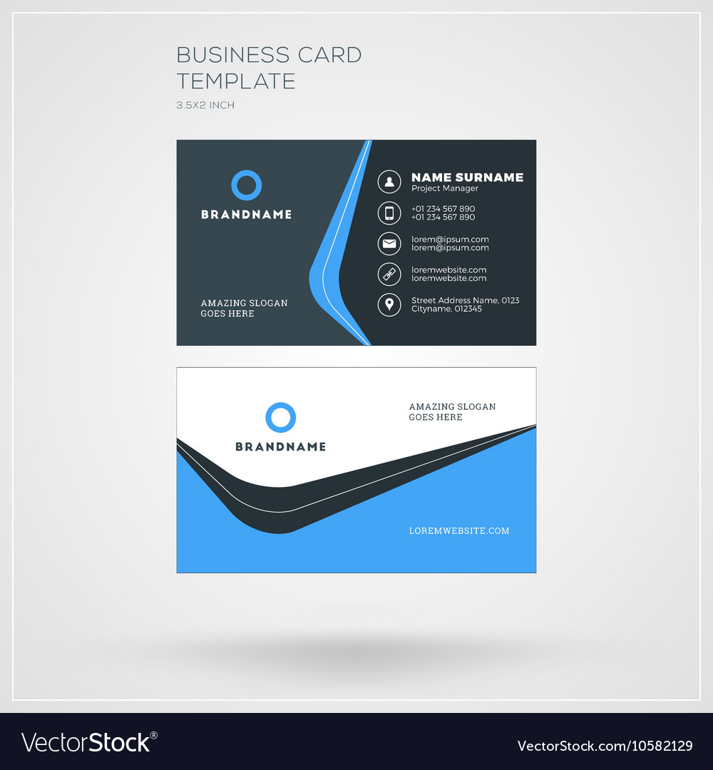 Business card template personal visiting card with business card template personal visiting card with vector image wajeb Gallery