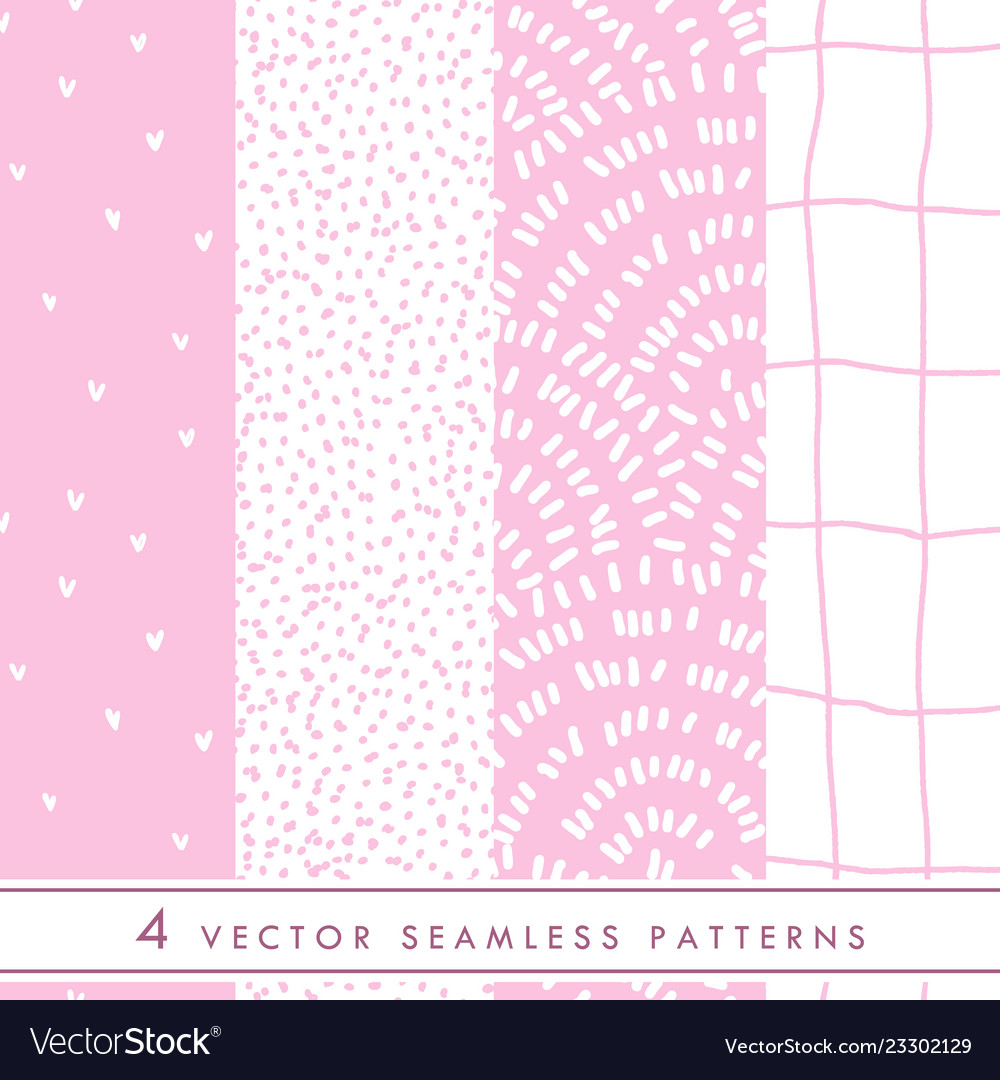 Collection of cute seamless patterns in