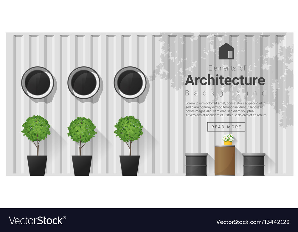 Elements of architecture window background 6 vector image