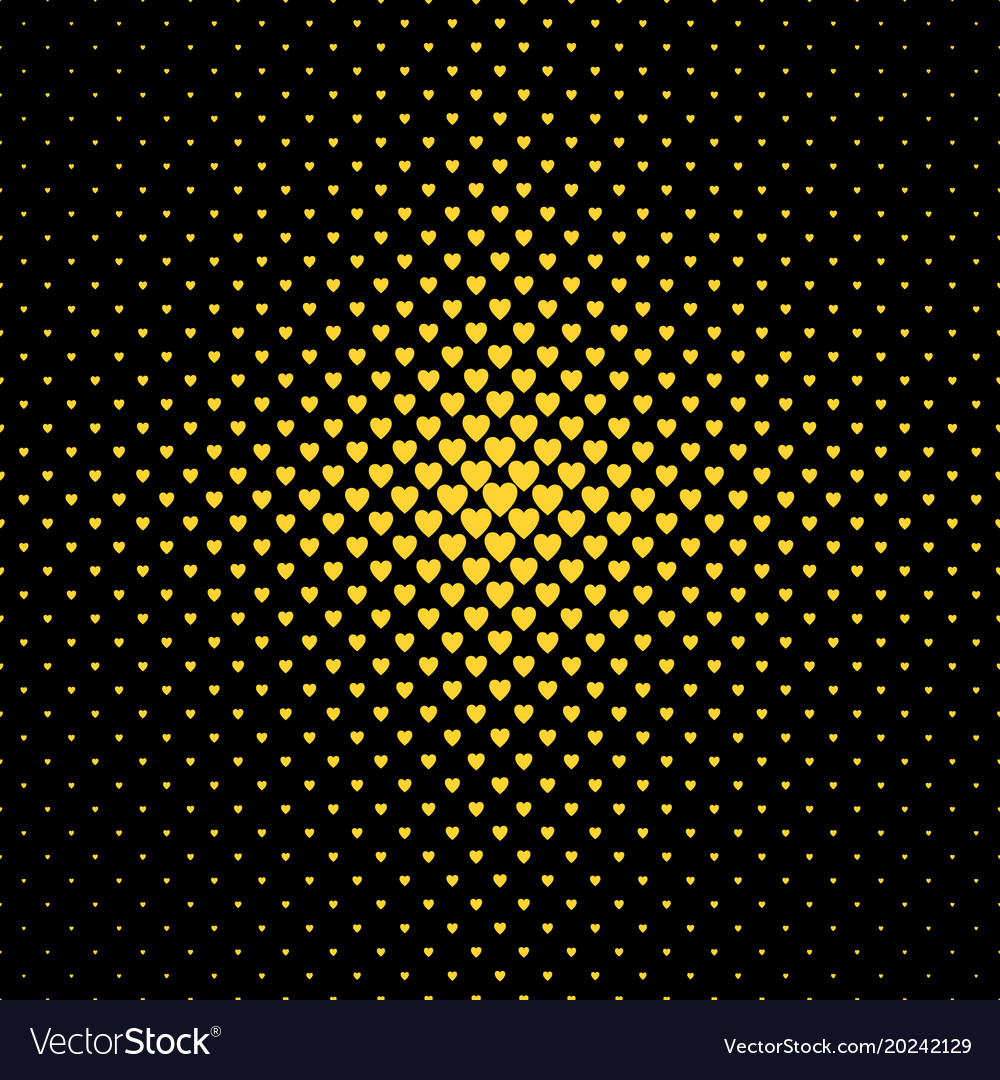Halftone heart background pattern - love concept