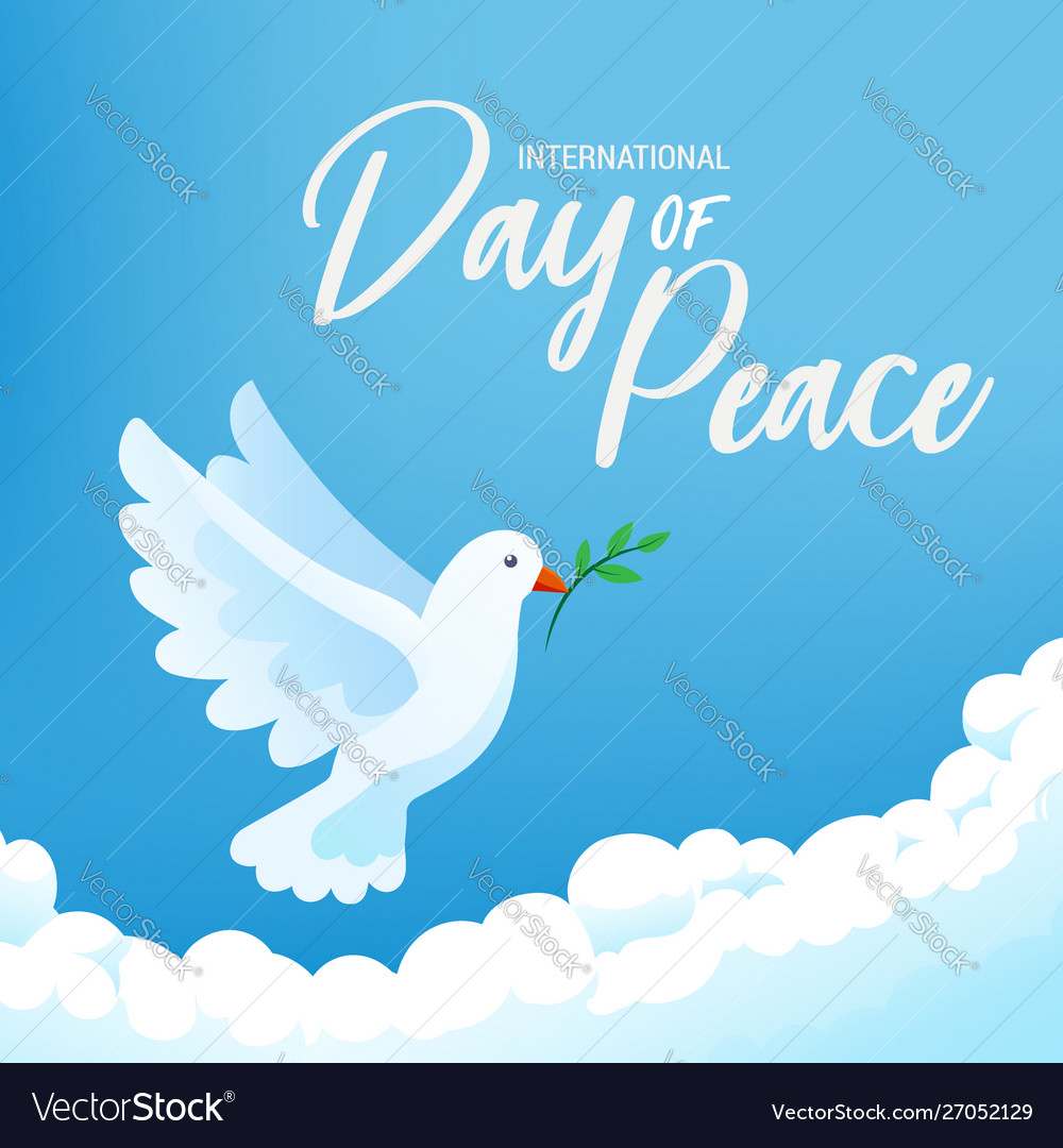 International day peace banner poster with