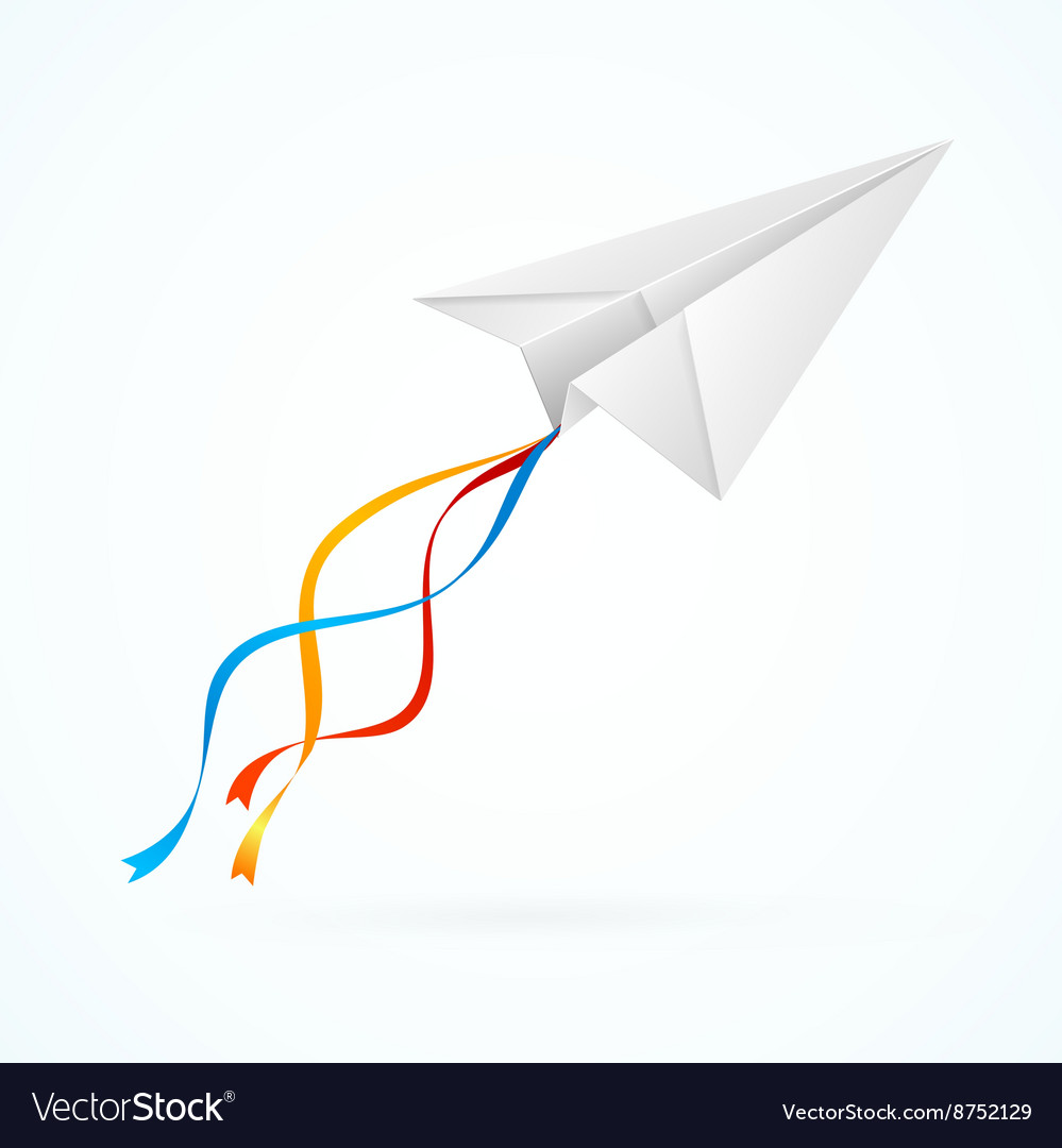 Paper Airplain White vector image