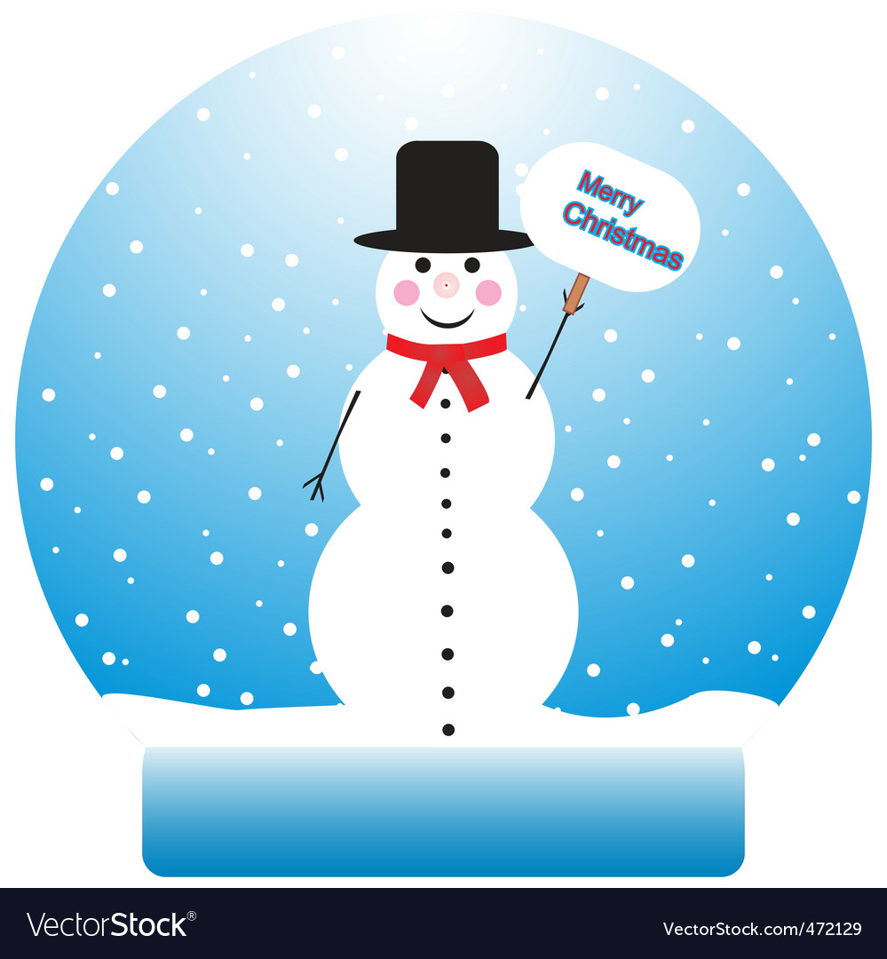 Snowman graphic vector image