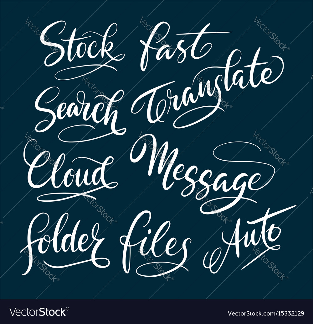 Stock and message hand written typography