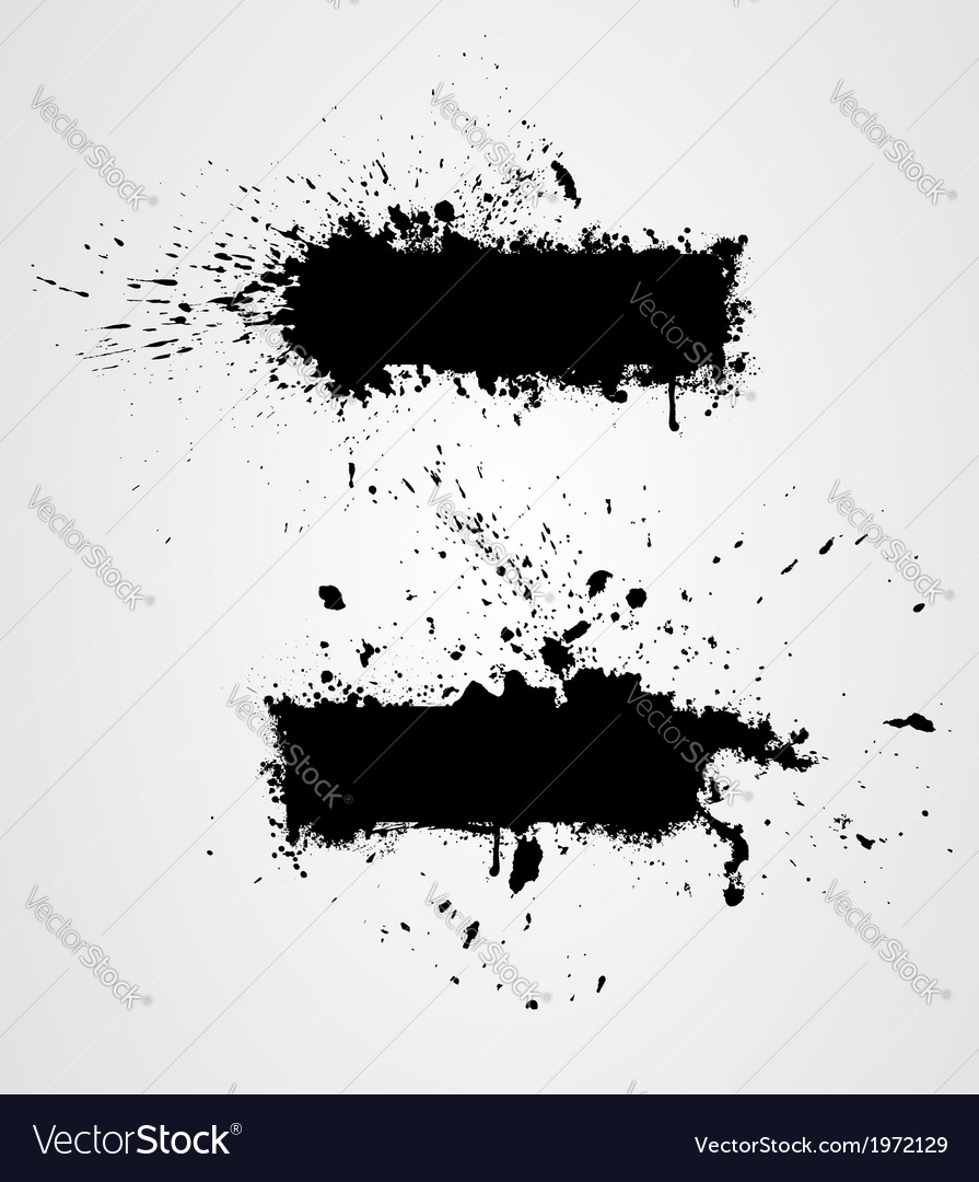Two grunge banners vector image