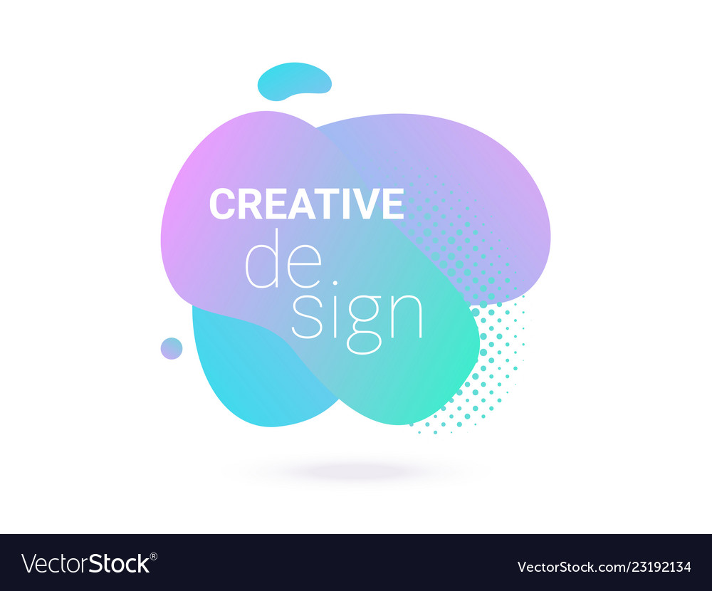 Abstract shape color gradient design