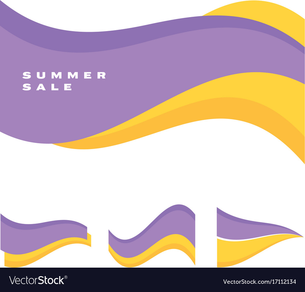 Abstract simple wave header vector image
