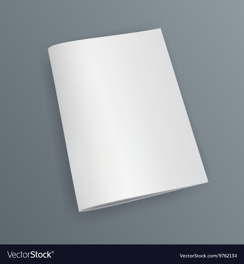Blank Cover Of Magazine Book Booklet Brochure