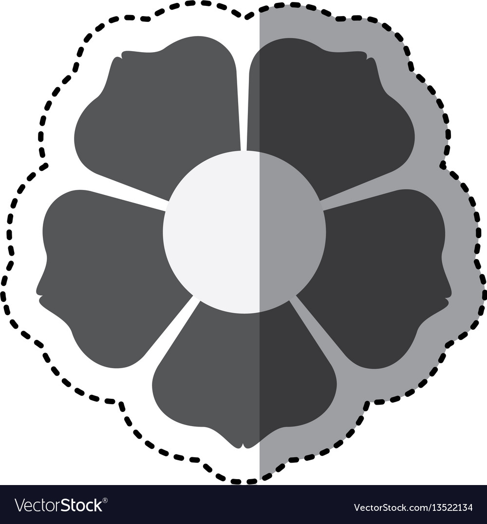 Contour flower with squre petals icon
