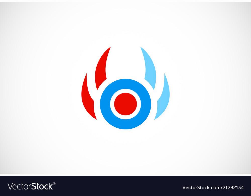 Round target shape logo