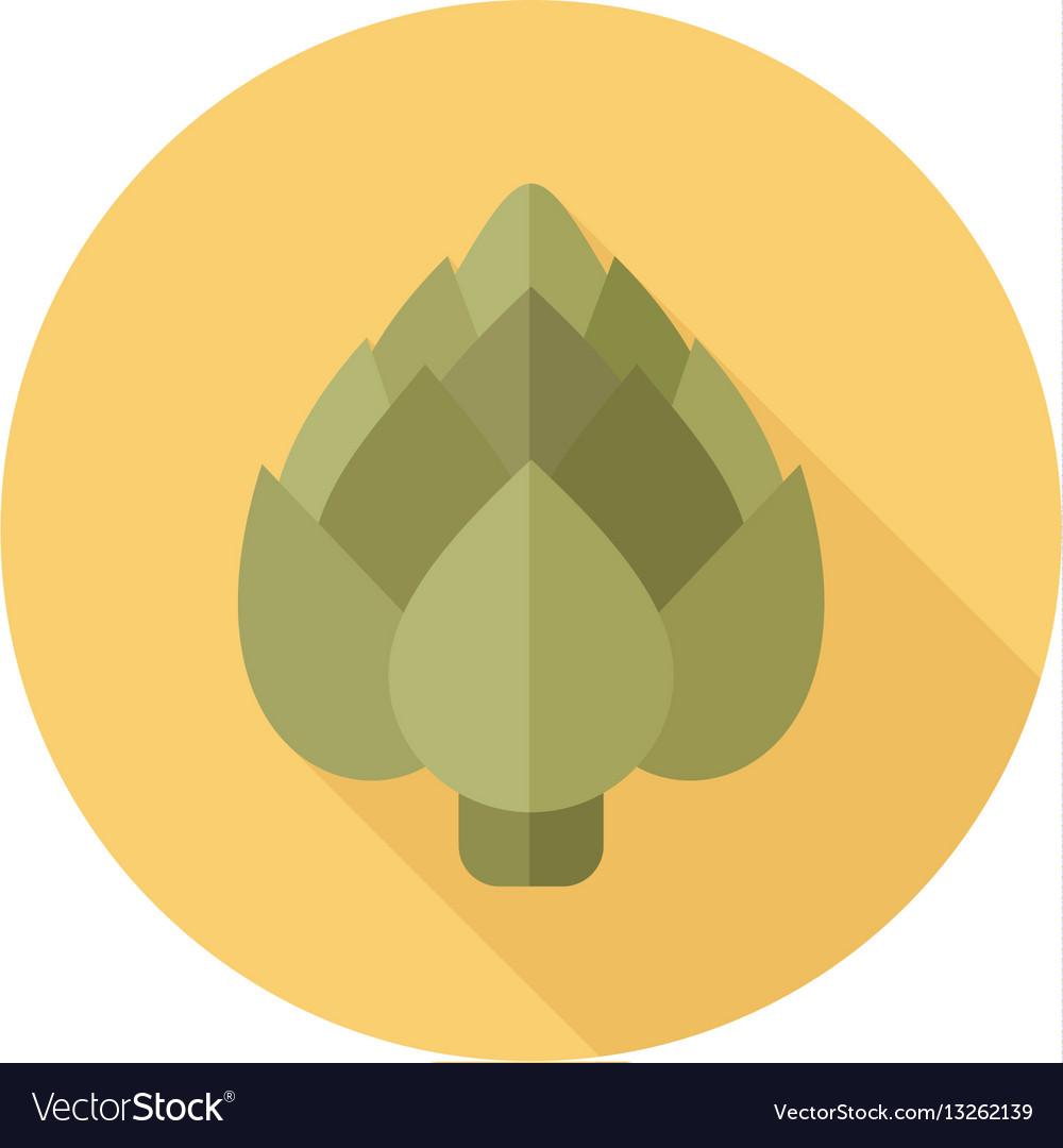 Artichoke flat icon vegetable