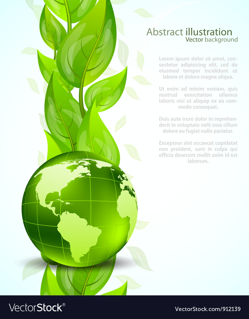 Background with globe end leaves