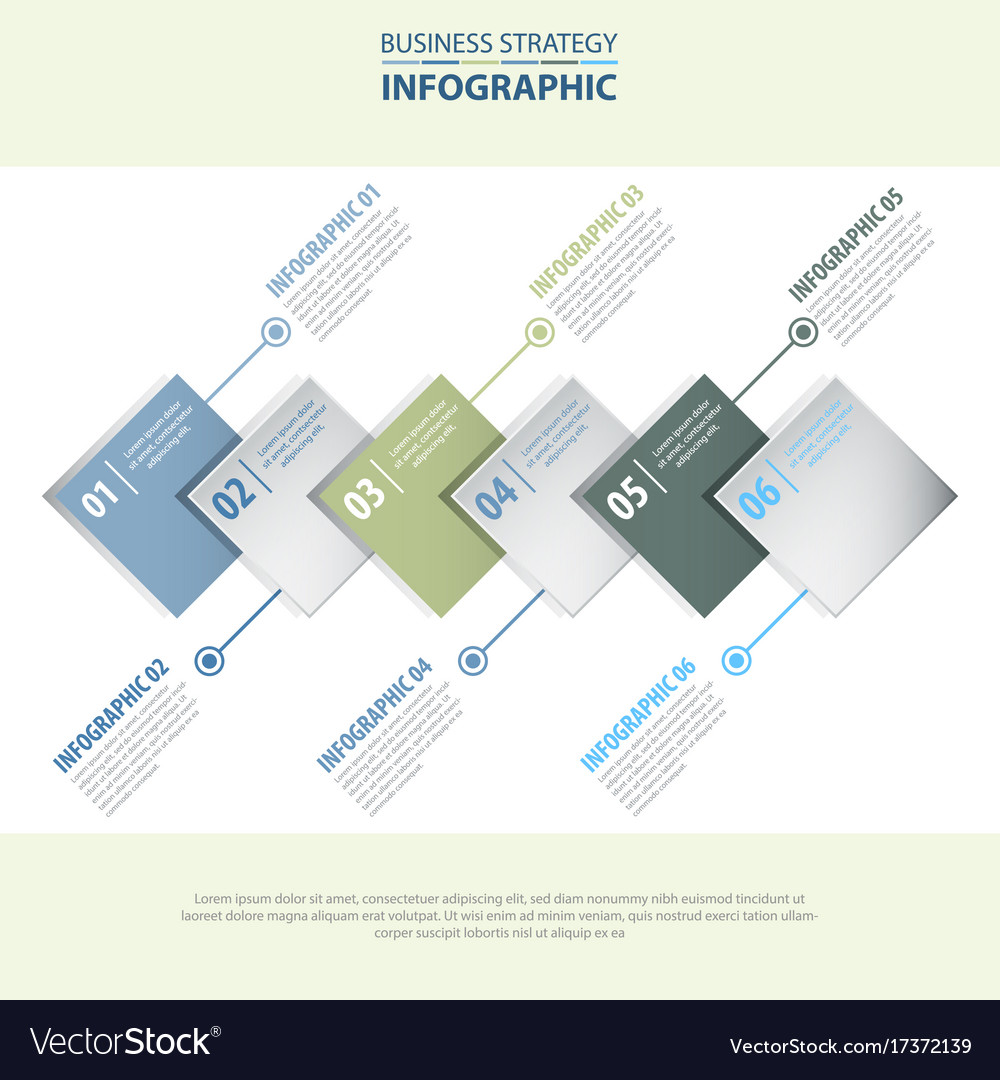Business infographics design template blue grey
