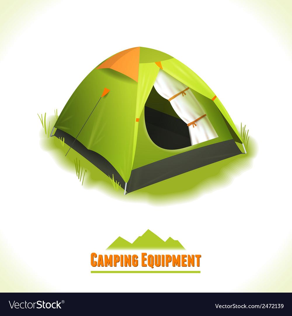 Camping symbol tent vector image