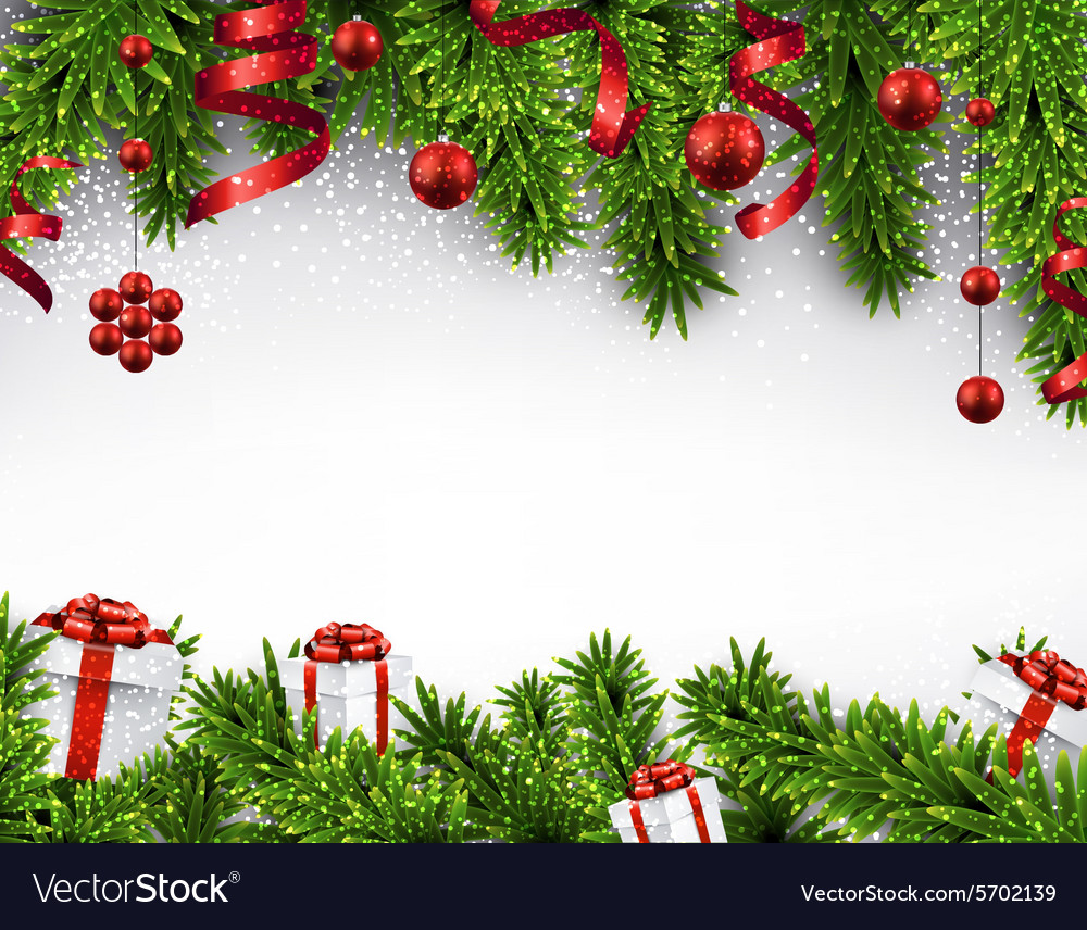 Christmas Banner.Christmas Banner With Spruce Branches