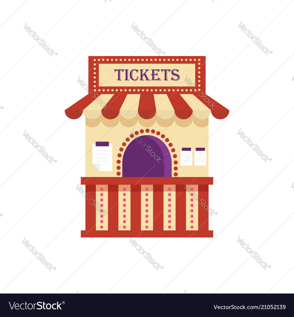 Information ticket office isolated on white vector image