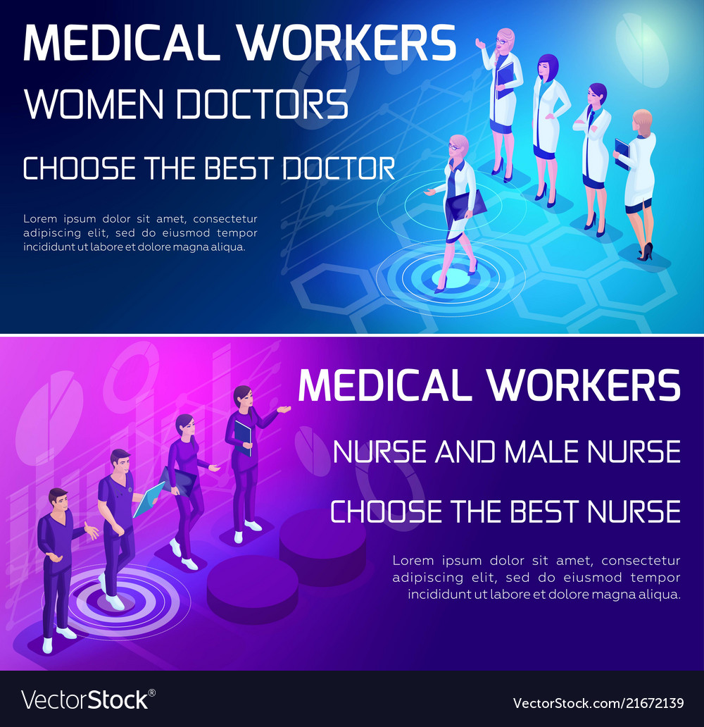 Isometry vivid concept use types medical workers