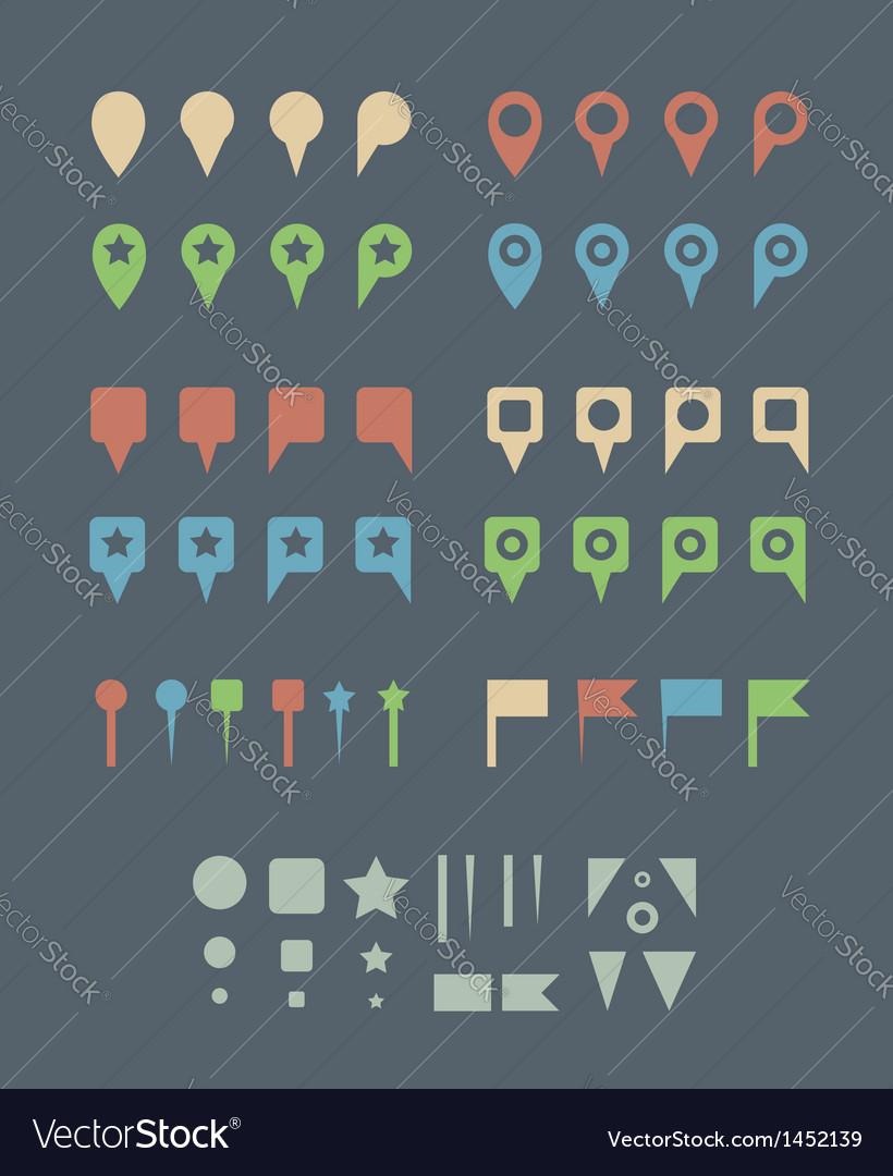 Map pins flat