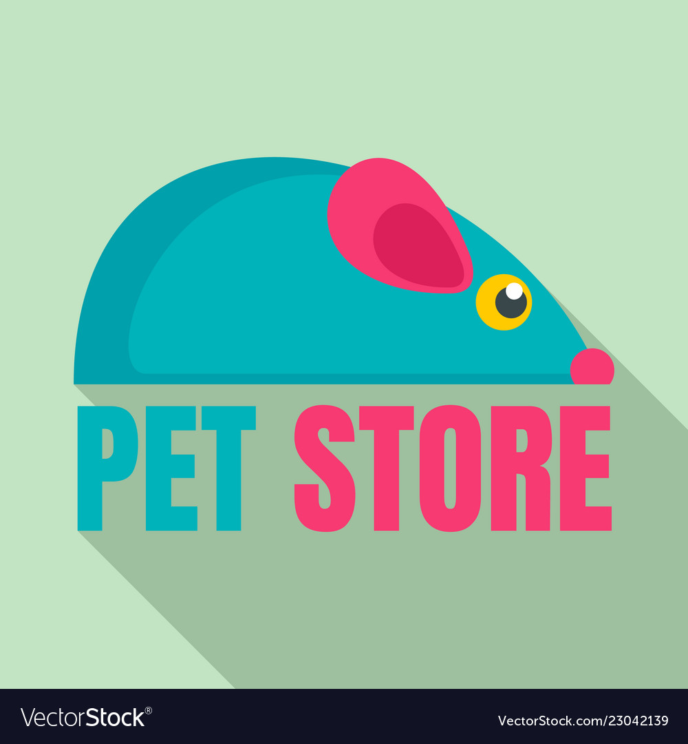 Pet Store Toys Logo Flat Style Royalty Free Vector Image